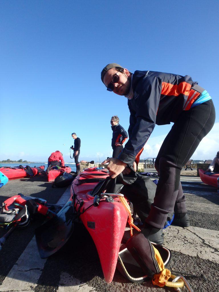 depart kayak aventure sep bretagne